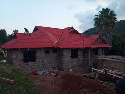 Bamboo Tile Brick Red